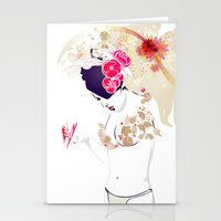 Madame Butterfly Stationery Cards
