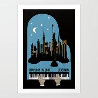 Rhapsody In Blue - Gersh… Art Print