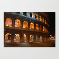 Colosseum - Rome, Italy Canvas Print