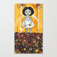 Yellow Flower Room Canvas Print