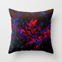 Nature Melds With Techno… Throw Pillow