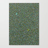 Blue/Green Dot Color Design Canvas Print