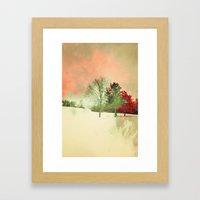 Winter Settlement Framed Art Print