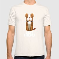 Little Boxer Mens Fitted Tee Natural SMALL