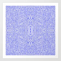 Radiate (Periwinkle) Art Print