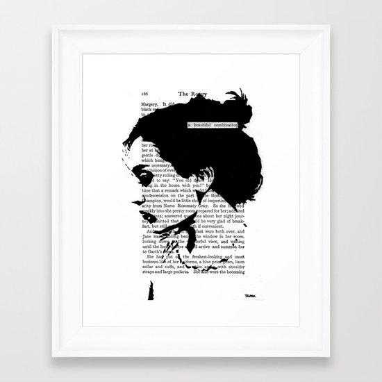 A Beautiful Combination Framed Art Print