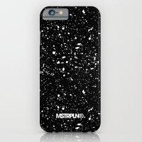 Retro Speckle Print - Black iPhone 6 Slim Case