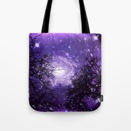 Trees, Stars And Lavende… Tote Bag