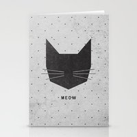 friends Stationery Cards featuring MEOW by Wesley Bird