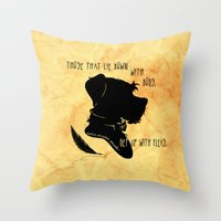 Those That Lie Down With Dogs, Get Up with Fleas Throw Pillow