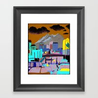 Santa Fe Bridge Framed Art Print