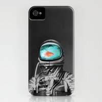 iPhone 4 Case featuring Underwater astronaut by Budi Kwan