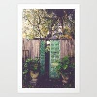 Saint Augustine Garden Art Print