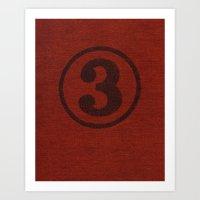 Number Series: #3 Art Print