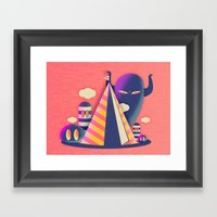 Temple Haze Framed Art Print