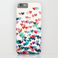 water iPhone & iPod Cases featuring Heart Connections - watercolor painting by micklyn