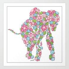 Cheerful Elephant Art Print