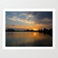 Charles River Sunrise 3 Art Print