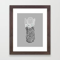 Typographical drawing with an image of a king Framed Art Print
