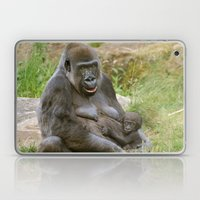 Gorilla Mother and Baby Laptop & iPad Skin