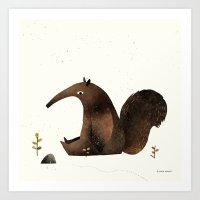 Ants Again (Anteater) Art Print