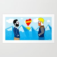 Hot Love  Art Print