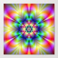 Floral Psychedelia Canvas Print