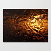 Golden Wrapper Canvas Print