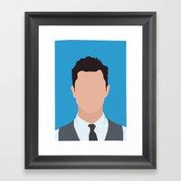 Joseph Gordon-Levitt Por… Framed Art Print