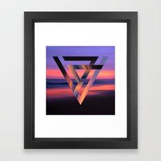 Neon Sky Framed Art Print