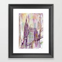 August Rain  Framed Art Print