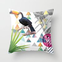 Tropical Mess Throw Pillow