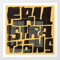 Frustrations Art Print