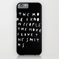iPhone & iPod Case featuring THE MORE I KNOW PEOPLE by WASTED RITA