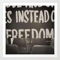 It Was For Freedom Art Print