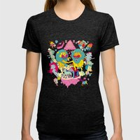 Celebración Womens Fitted Tee Tri-Black SMALL