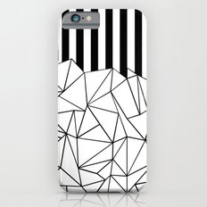 Abstract Outline Stripes Black and White Slim Case iPhone 6s