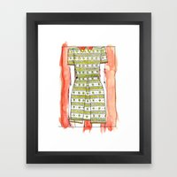 LACEDRESS. Framed Art Print