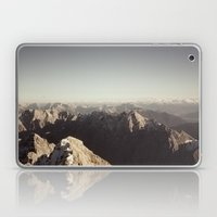 Zugspitze Mountain Germany Black and White Photography Laptop & iPad Skin