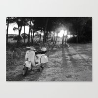 Yellow Vespa 2 Canvas Print
