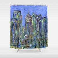 Blue Philadelphia Skylin… Shower Curtain