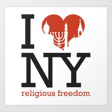 Luv New York Religious Freedom Art Print