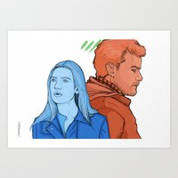 FRINGE: The Blue And The… Art Print