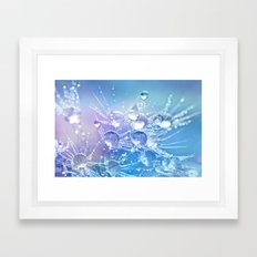 Diamond Dew Flowers (Periwinkle Lavender) Framed Art Print
