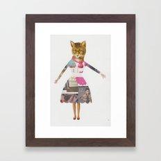 Crazy Cat lady Framed Art Print