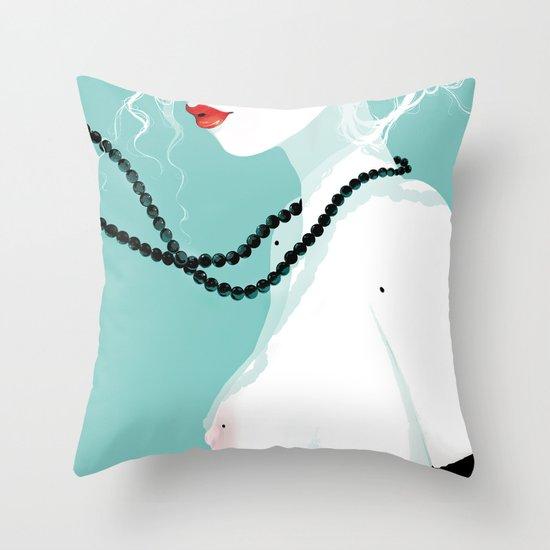 Black pearls Throw Pillow