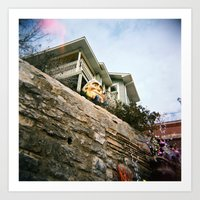 Humpty Dumpty Sat on a Wall... Art Print