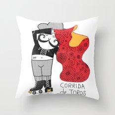 Hernando loves being a Matador Throw Pillow