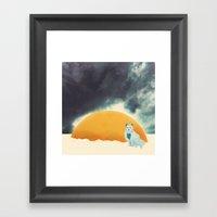 Arctic Fox Stumbles Upon… Framed Art Print