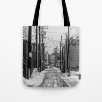 Winter Alley Tote Bag